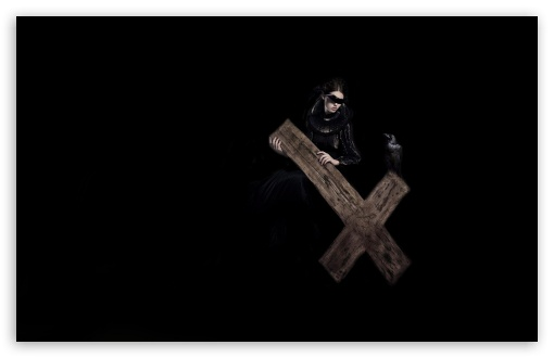 Download Girl With The Cross UltraHD Wallpaper