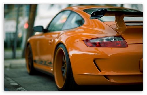 Download Orange Porsche UltraHD Wallpaper