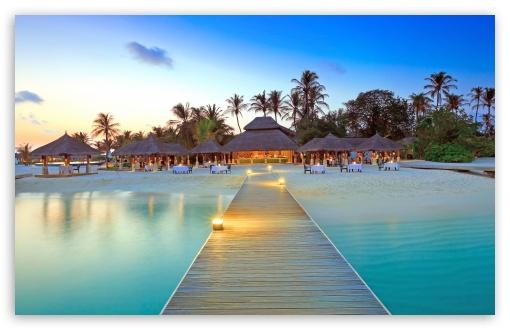 Download Maldive Islands Resort UltraHD Wallpaper
