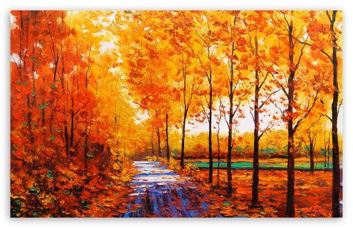 Download Fall Painting UltraHD Wallpaper