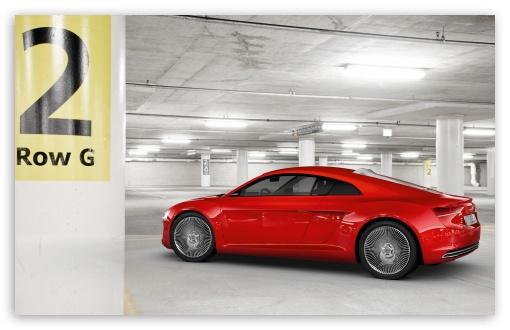 Download Audi E Tron Underground Parking Garage UltraHD Wallpaper