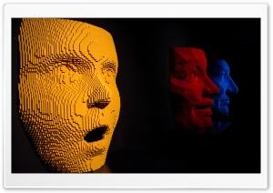 Giant Lego Faces Art