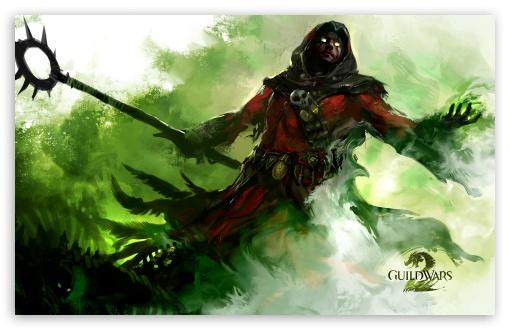 Download Guild Wars 2 Human Necromancer UltraHD Wallpaper