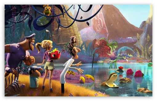 Download Cloudy with a Chance of Meatballs 2 2013 UltraHD Wallpaper